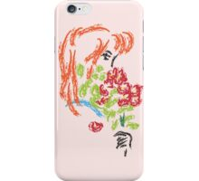 Girl with Flowers iPhone Case/Skin