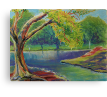 Irvine Park Lake - Plein Air Quick Study Canvas Print