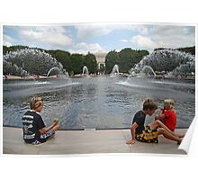 Children At A Fountain Poster