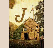 """Grungy Melbourne Australia Alphabet Letter """"J"""" James Cook Unisex T-Shirt"""