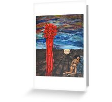 Eve dreaming of paradise Greeting Card