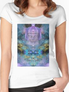 PEACE STARTS WITHIN Women's Fitted Scoop T-Shirt