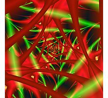Red and Green Neural Network Photographic Print