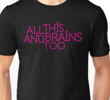 Prince Batdance All This and Brains Too (White) Unisex T-Shirt