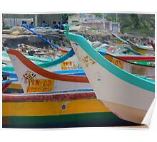 Beach Boot Colorful Sea Water Wave Poster