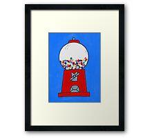 Gumball machine Framed Print