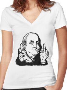 Bird Franklin Women's Fitted V-Neck T-Shirt
