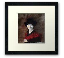 Lady sang the blues Framed Print