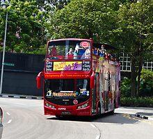Sightseeing bus at the Suntec Mall in Singapore by ashishagarwal74