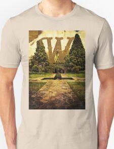 Grungy Melbourne Australia Alphabet Letter W Pioneer Women's Memorial Garden T-Shirt