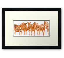 Line of Lines (Burning Orange) Framed Print