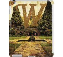 Grungy Melbourne Australia Alphabet Letter W Pioneer Women's Memorial Garden iPad Case/Skin