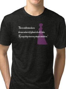 There is a Stubbornnesss about me -White Tri-blend T-Shirt