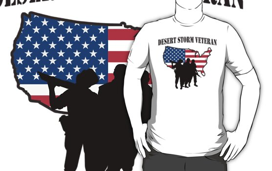 Desert Storm Veteran T-Shirt by HolidayT-Shirts