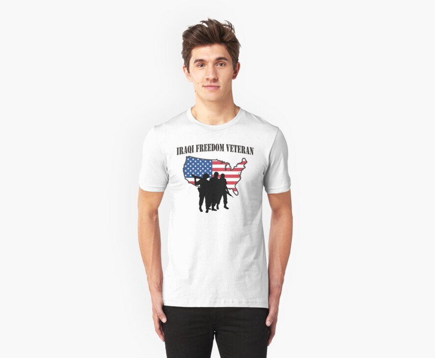 Iraqi Freedom Veteran T-Shirt by HolidayT-Shirts