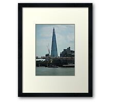 The Shard ( with Millenium Bridge ) Framed Print