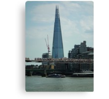 The Shard ( with Millenium Bridge ) Canvas Print