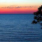 Lake Michgan Sunset Overlook by Kenneth Keifer
