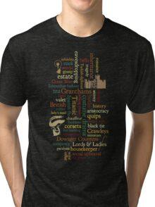 Downton Abbey Word Mosaic Tri-blend T-Shirt
