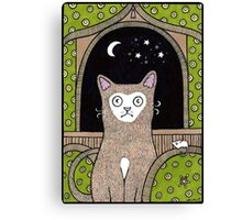 The Moon at my Window Canvas Print