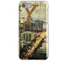 Grungy Melbourne Australia Alphabet Letter Y Yarra River iPhone Case/Skin