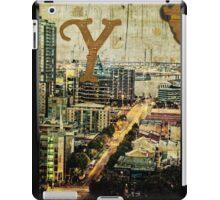 Grungy Melbourne Australia Alphabet Letter Y Yarra River iPad Case/Skin