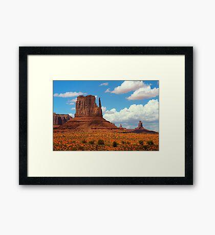 West Mitten Butte  Framed Print