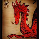 Red Dragon iPhone Cover  by TheCroc1979