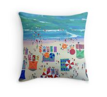 Mollymook Beach 3 by Stephanie Burns Throw Pillow