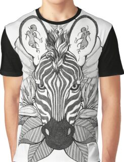 Zebra & Jungle Leaves Graphic T-Shirt