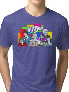 the Wedding Singer character collage Tri-blend T-Shirt