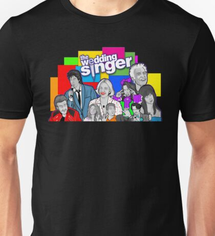 the Wedding Singer character collage Unisex T-Shirt