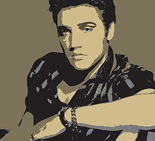 Elvis Presley - Pop Art Portrait by Mdgraphix