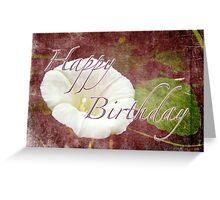 Birthday Greeting Card - Bindweed Morning Glory Greeting Card