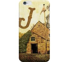 "Grungy Melbourne Australia Alphabet Letter ""J"" James Cook iPhone Case/Skin"