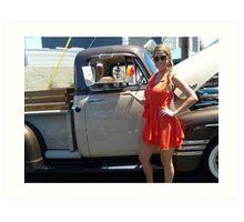 Norwalk Elk`s 11th Annual Car Show; Serving communities Well done! Art Print