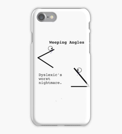 Weeping Angles iPhone Case/Skin