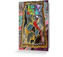 Timothy Leary's Pinball Machine Greeting Card