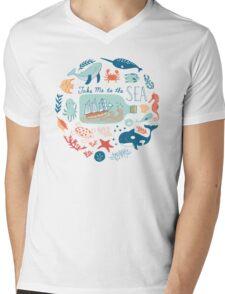 Take Me to the Sea Mens V-Neck T-Shirt