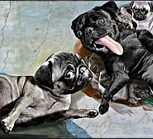 The Creation of Pugs by darklordpug