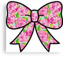Lilly Pulitzer Inspired Bow First Impression Canvas Print
