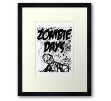 Zombie Days Black Framed Print