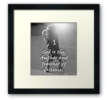 """God is the Author and finisher of destinies"" by Carter L. Shepard Framed Print"