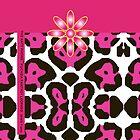 The Katy Phone / Fuchsia Fantasy Leopard by Susan R. Wacker
