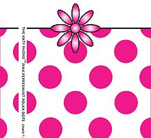The Katy Phone / Pink Peppermint Polka Dot by Susan R. Wacker