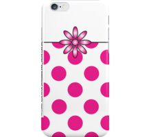 The Katy Phone / Pink Peppermint Polka Dot iPhone Case/Skin