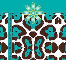 The Katy Phone / Tantalizing Turquoise Leopard by Susan R. Wacker