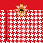 The Katy Phone / Red Hot Houndstooth by Susan R. Wacker