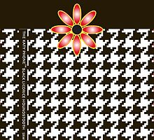 The Katy Phone / Black Licorice Houndstooth by Susan R. Wacker