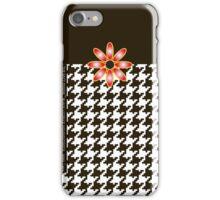 The Katy Phone / Black Licorice Houndstooth iPhone Case/Skin